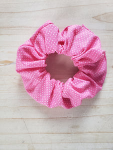 Polka Dot Scrunchie- Pink