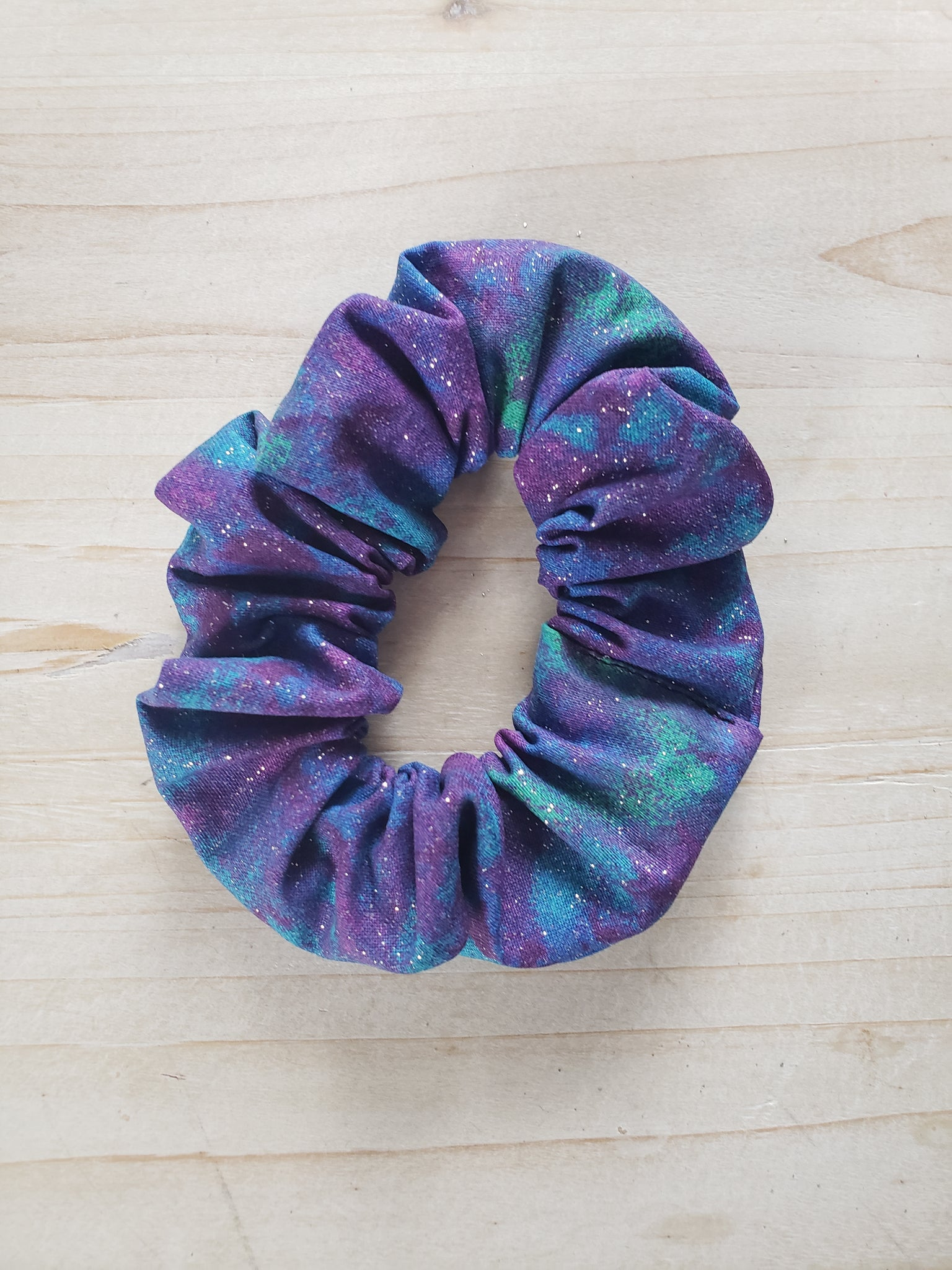 Glitter Scrunchie- Purple & Blue