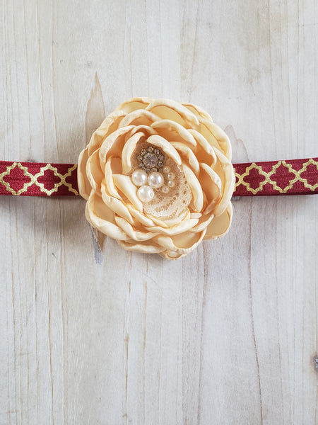 Gold Floral Headband