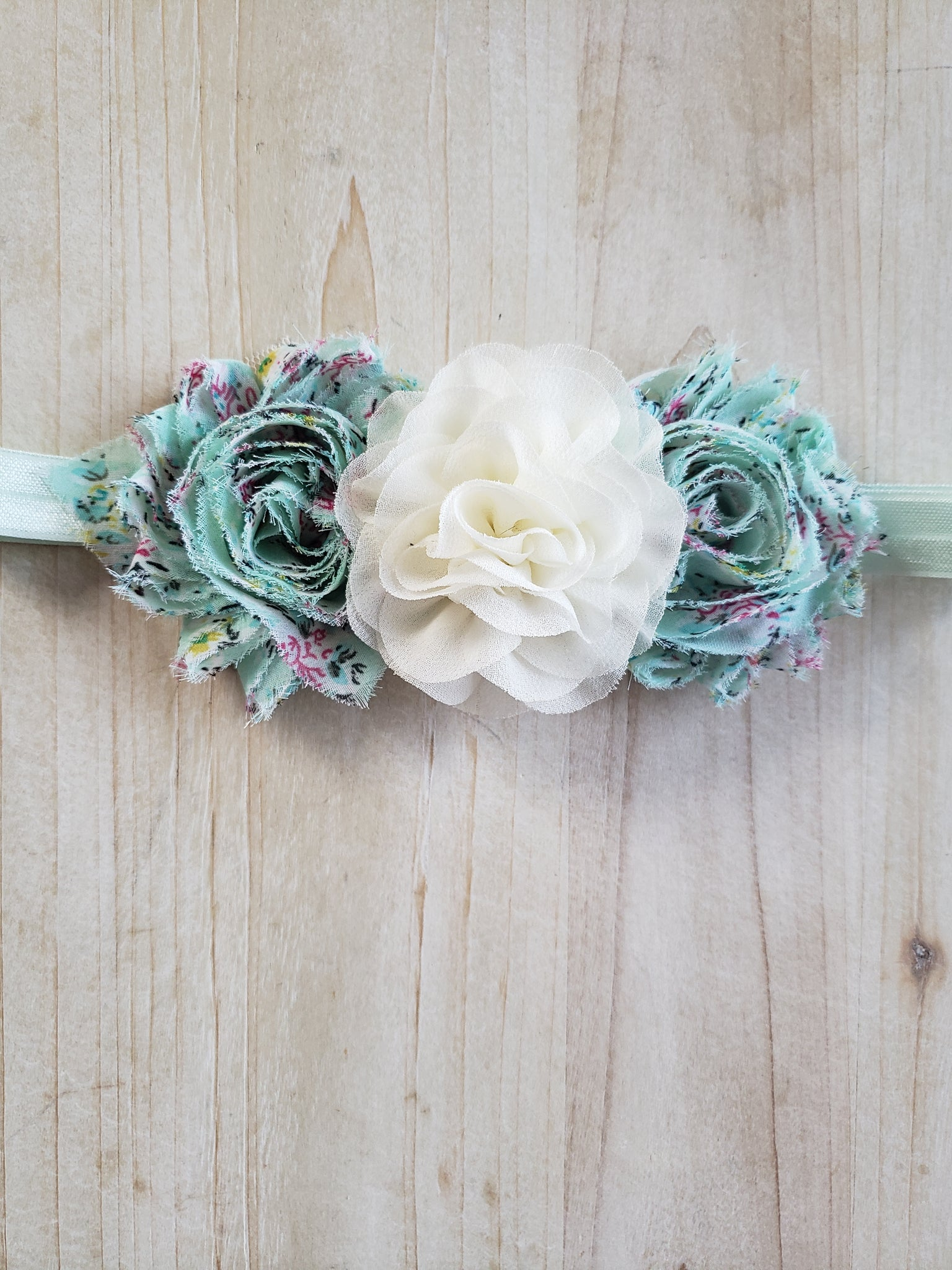 Floral Printed Headband- Teal