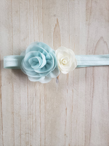 Blue & White Blue Headband