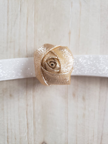 Gold Rose Headband