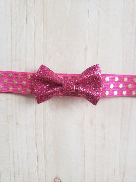 Hot Pink Sparkle Headband