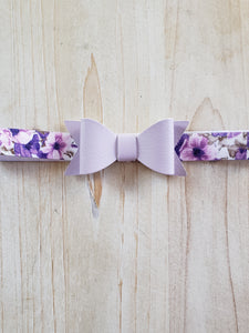 Newborn Stretch Headband- Lilac Bow