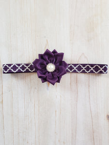 Infant Headband- Deep Purple
