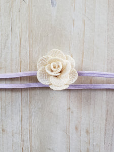 Infant Skinny Headband- Lilac Band