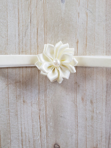 Newborn Headbands- Ivory Flower