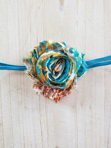 Skinny Banded Infant Headband- Blue