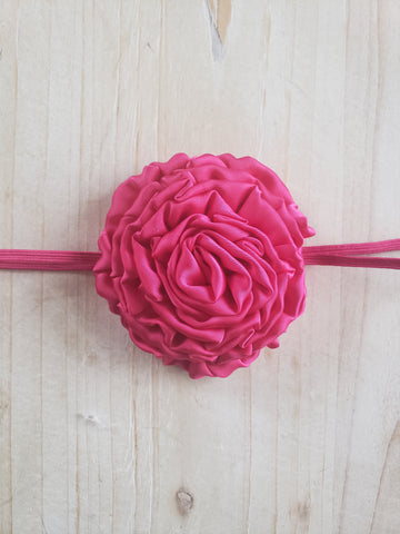 Skinny Banded Infant Headband- Hot Pink