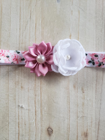 Newborn Stretch Headband- April Showers