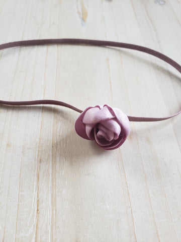 Infant Stretch Headband- Mauve