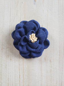 Hair Bow-Denim Floral
