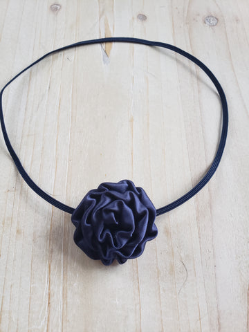 Newborn Headband- Navy No Show
