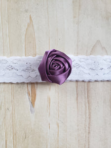 Child Headband- Purple & Lace