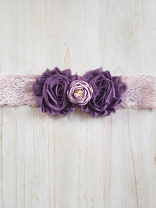 Child Stretch Headband- Pleased in Purple