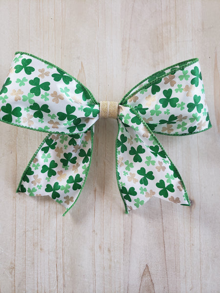 St. Patrick's Clover Bow