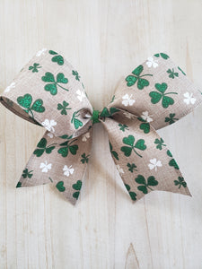 St. Patrick's Day Clover Bow