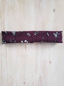 Handmade Stretch Cotton Headband- Maroon Floral
