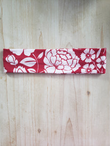 Brushed Cotton Headband- Red Floral