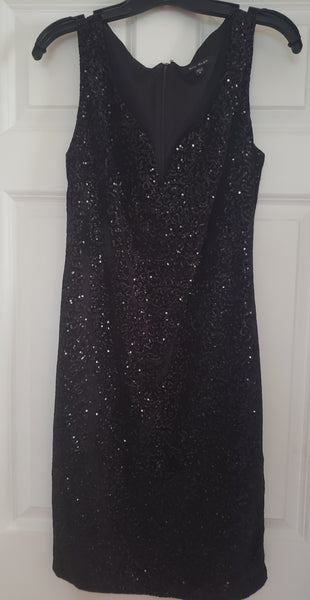 Blu Sage Sequined Plunge Neck Dress