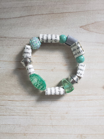Book Themed Charm Bracelet