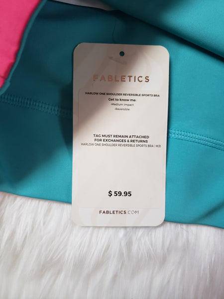 Fabletics Harlow Reversible One Shoulder Sports Bra- NEW WITH TAGS
