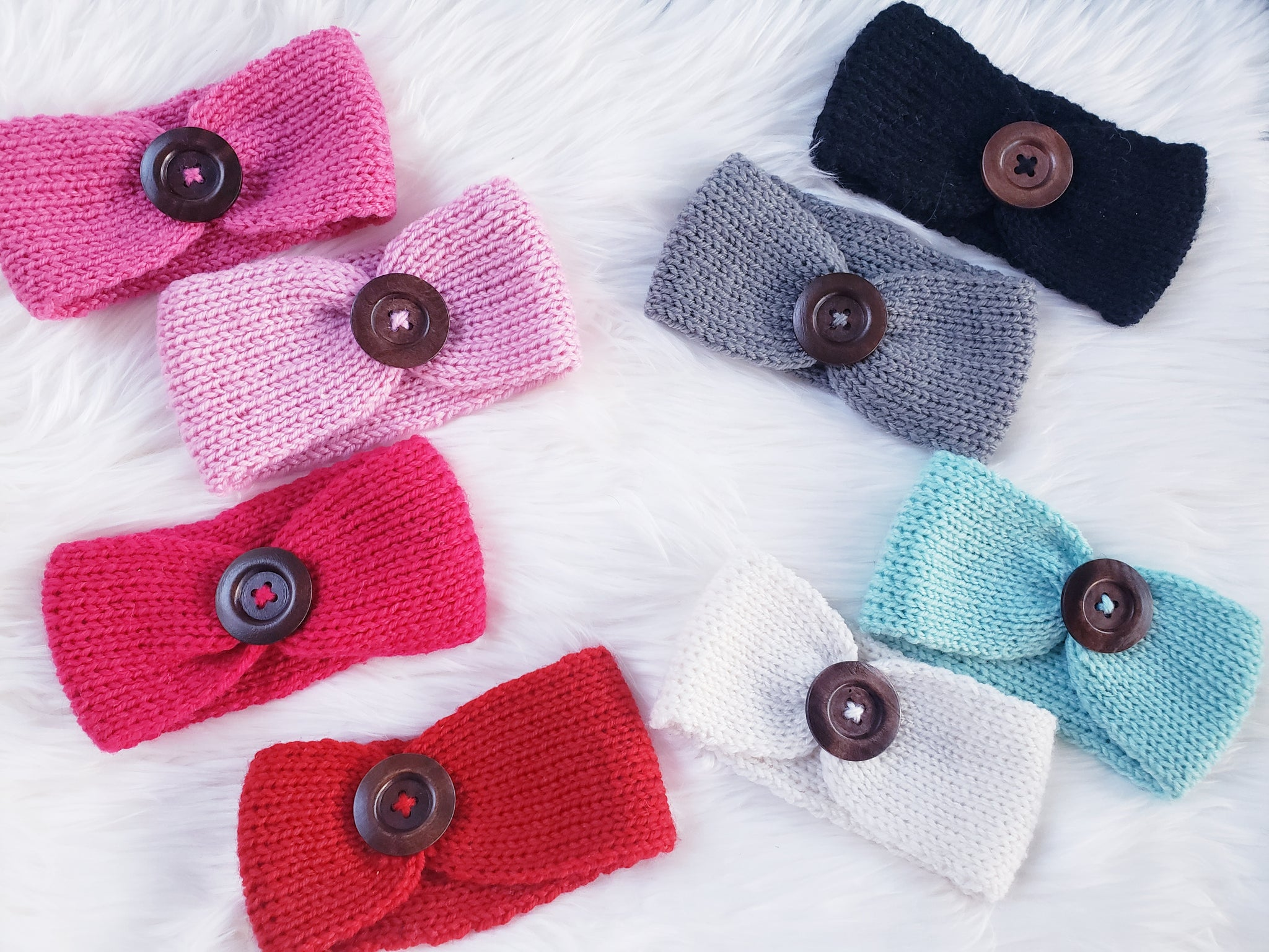 Button Sweater Headband- Adult