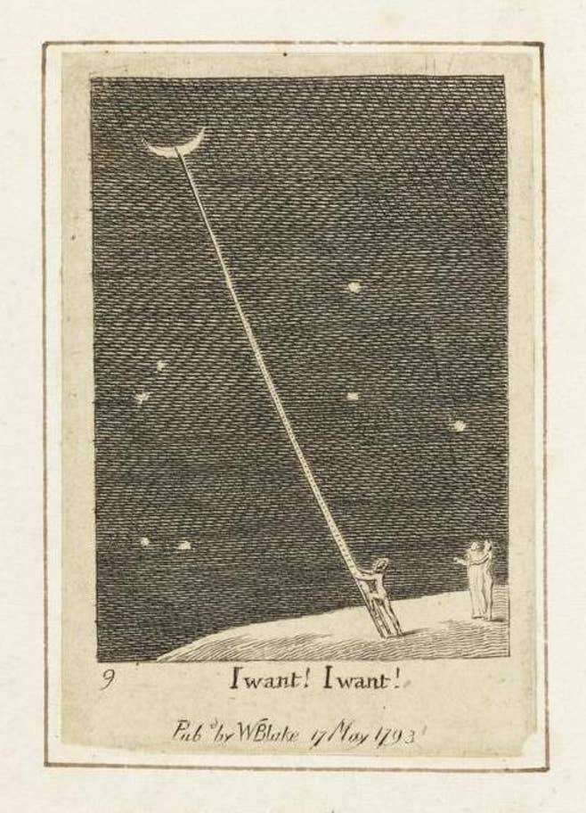 William Blake, I want! I want!, published in For Children: The Gates of Paradise, 1820, The Fitzwilliam Museum, Cambridge