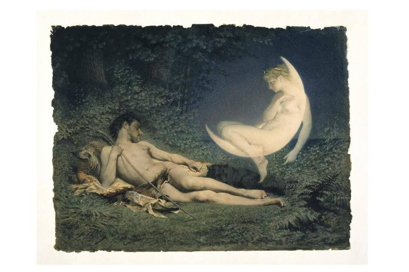 Victor-Florence Pollet, Endymion and Selene, 19th century, image via The Victoria and Albert Museum