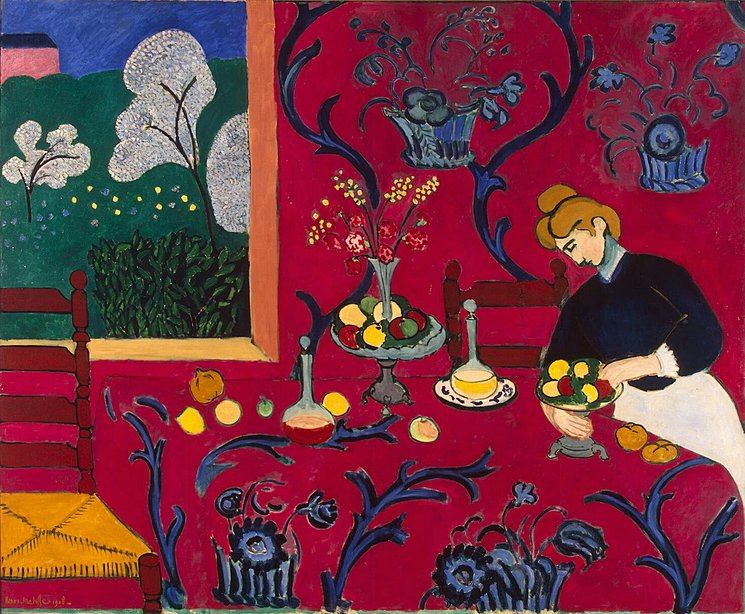 Red Room (Harmony in Red), 1908, image via The Hermitage Museum, St Petersburg, Russia