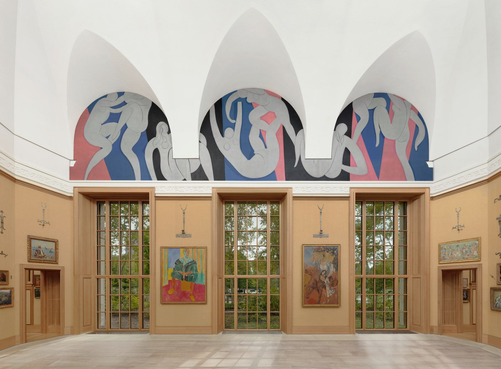 The Dance II, 1932, mural at the Barnes Foundation, Philadelphia, image via Architectural Digest