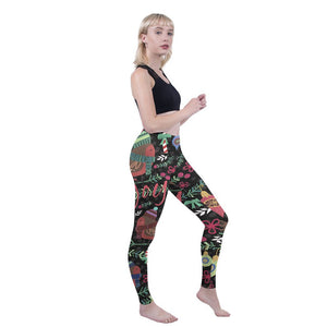 Joy Robins Printing High Waist Women Leggings