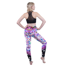 Load image into Gallery viewer, Purple Glitter Printing High Waist Women Leggings