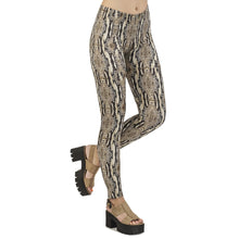 Load image into Gallery viewer, Python Snake Skin Printing High Waist Women Leggings