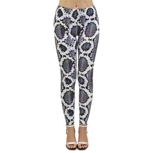 Load image into Gallery viewer, Iridescent Snake skin Printing High Waist Women Leggings