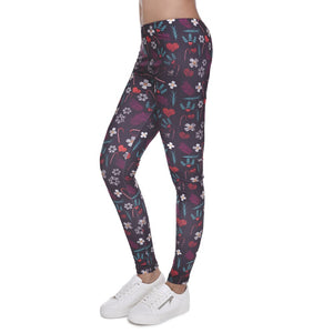 Floral 3D Printing High Waist Women Leggings