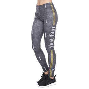 Road Run Printing High Waist Women Leggings