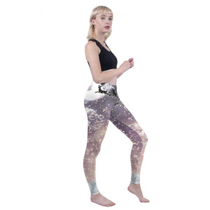Santas Flight Printing High Waist Women Leggings