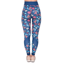 Load image into Gallery viewer, Gold Fish Printing High Waist Women Leggings