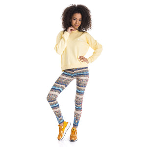 Winged Sarab Printing High Waist Women Leggings