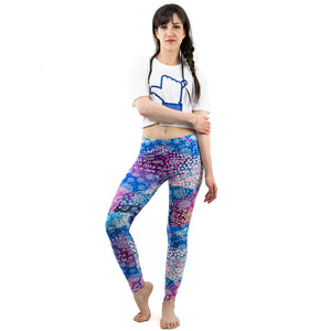 Colorful Dot Printing High Waist Women Leggings
