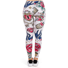 Load image into Gallery viewer, Valentines Tattoos Printing High Waist Women Leggings