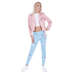 Milk Printing High Waist Women Leggings