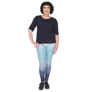 Wild Mountain Printing Plus Size Women Leggings