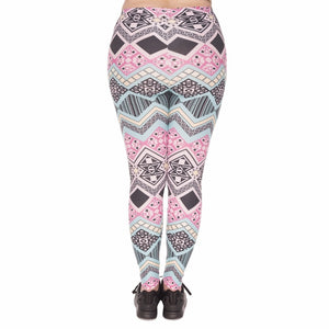 Aztec Printing Plus Size Women Leggings