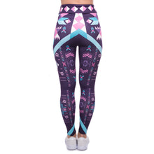 Load image into Gallery viewer, Aztec Dark Purple Printing High Waist Women Leggings