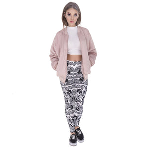 Mandala Black Printing High Waist Women Leggings