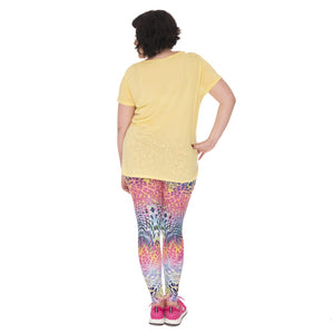 Color Leopard Printing Plus Size Women Leggings
