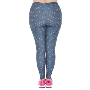 Freeride Deer Printing Plus Size Women Leggings