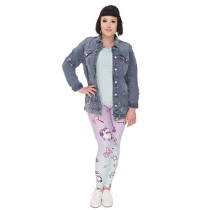 Unicorn Printing Plus Size Women Leggings